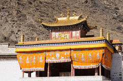 Lamasery in Tibet stock images