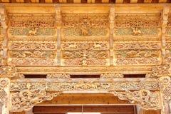 Lamasery wood carving Royalty Free Stock Image
