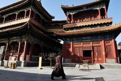 Lamatempelet i Beijing Kina Arkivbilder