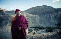 从Lamayaru修道院的修士 库存图片