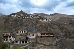 Lamayru monaster, widok Lamayuru monaster w Leh-Ladakh, Ind Fotografia Stock