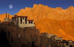 Lamayuru修道院,拉达克 免版税库存照片