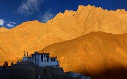 Lamayuru修道院,拉达克 免版税图库摄影