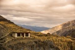 Lamayuru alunissent Leh Ladakh, Jammu-et-Cachemire, Inde Photo stock