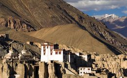 Lamayuru buddhist monastery in Ladakh Royalty Free Stock Photos