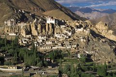 Lamayuru buddhist monastery and village in ladakh Royalty Free Stock Photo