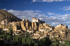 Lamayuru buddhist monastery and village in Ladakh Stock Image
