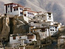 Lamayuru gompa - buddhist monastery in Indus valley - Ladakh - India Royalty Free Stock Photo