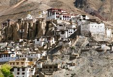 Lamayuru gompa - buddhist monastery in Indus valley Royalty Free Stock Images