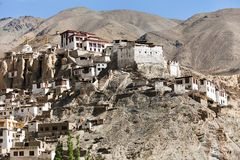 Lamayuru gompa - buddhist monastery in Indus valley Royalty Free Stock Photo