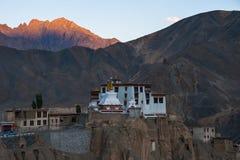 Lamayuru Gompa lub Yuru, Kargil okręg, Zachodni Ladakh, India Zdjęcie Stock