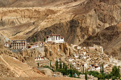 Lamayuru kloster, Ladakh, Jammu and Kashmir, Indien arkivbild