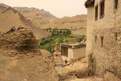 Lamayuru monastery. One of most famous monastery of Ladakh royalty free stock images
