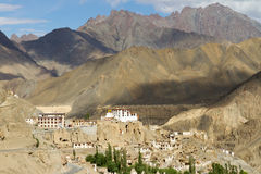 Lamayuru monastery panorama at Himalayas Stock Photo