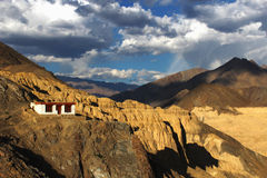Lamayuru Monastry, Leh. This photo is clicked from Lamayuru Monastery, Leh, which is situated at altitude of 3150 mtrs Royalty Free Stock Photography