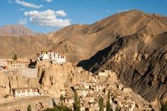 Lamayuru o Yuru Gompa, distretto di Kargil, Ladakh occidentale, India Immagini Stock Libere da Diritti