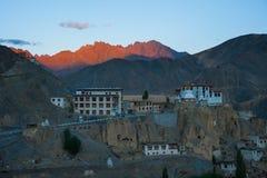 Lamayuru o Yuru Gompa, distretto di Kargil, Ladakh occidentale, India Fotografia Stock Libera da Diritti