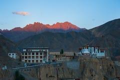 Lamayuru o Yuru Gompa, distretto di Kargil, Ladakh occidentale, India Fotografie Stock Libere da Diritti