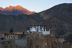 Lamayuru o Yuru Gompa, distrito de Kargil, Ladakh occidental, la India Foto de archivo