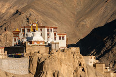 Lamayuru or Yuru Gompa, Kargil District, Western Ladakh, India. Lamayuru or Yuru Gompa, a Tibetan Buddhist Gompa (monastery) in Kargil District, Western Ladakh Stock Images