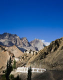 Lamayurukloof in Himalayagebergte, Ladakh, India Stock Afbeeldingen