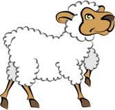 Lamb. Cartoon artwork in line-art for a lamb royalty free illustration