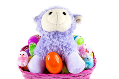 Lamb in a basket Royalty Free Stock Photo