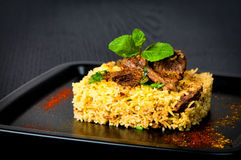 Lamb Biryani Stock Photo