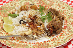 Lamb biryani dinner Stock Images