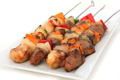Lamb and Chicken Tikka Royalty Free Stock Photography