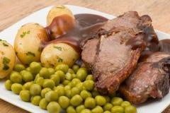 Lamb chop dinner Stock Photos