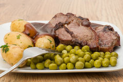 Lamb chop dinner Royalty Free Stock Image
