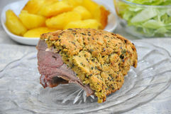 Lamb Chop in Herb Crust Royalty Free Stock Photos