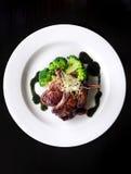 Lamb chop meal Stock Photo