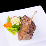 Lamb chop meal with potato and carrot Stock Photo