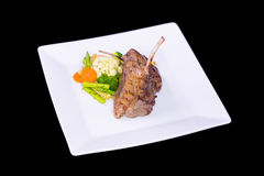 Lamb chop meal with potato and carrot Stock Image