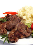 Lamb chop meal vertical Royalty Free Stock Photography