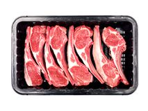 Lamb Chop Meat Tray Royalty Free Stock Photos