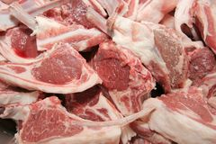 lamb chop meats royalty free stock image