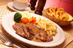 Lamb Chop Set Stock Images