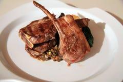 Lamb chop steak. Photograph of lamb chop steak Royalty Free Stock Images