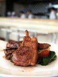 Lamb chop steak. Photograph of lamb chop steak kitchen at background Stock Photo
