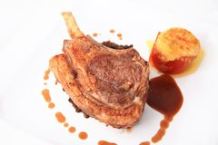 Lamb chop steak Stock Images