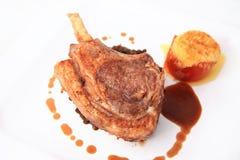 Lamb chop steak Stock Images