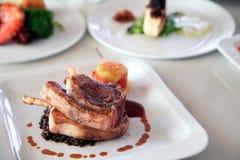 Lamb chop steak Stock Photo