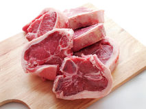 Lamb Chops On Chopping Board Royalty Free Stock Images