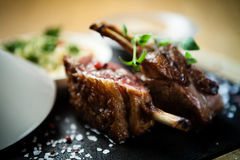 Lamb chops with couscous Royalty Free Stock Photography