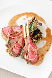 Lamb chops with herbs crust Stock Photo