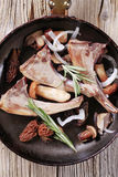 Lamb chops and mushroom Stock Image