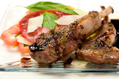 Lamb Chops on plate Royalty Free Stock Photos